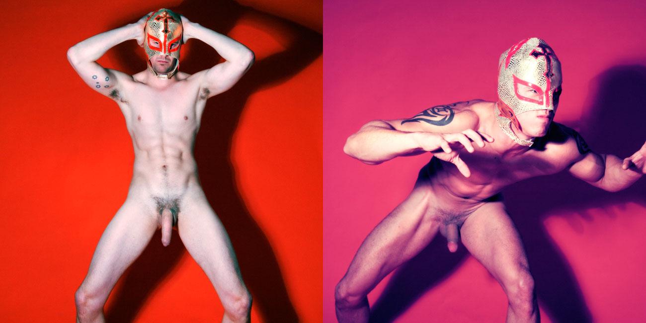 naked Gay masked men