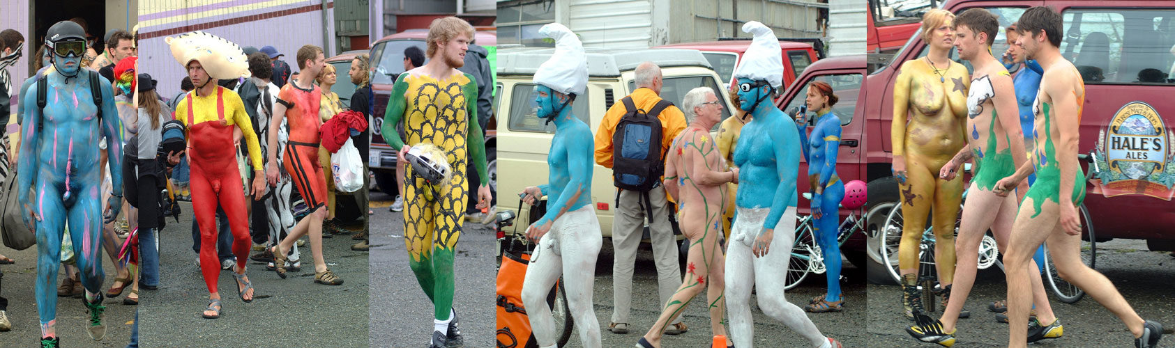 The World Naked Bike Ride and the Fremont Solstice parade.