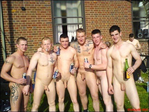 Straight male nude group there other